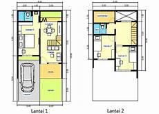 Contoh Desain Rumah Minimalis 2 Lantai 6x12 Dengan 3 Kamar
