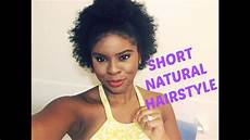 easy hairstyles for short natural hair 4c youtube