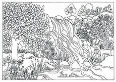 nature colouring pages printable 16386 printable waterfall nature coloring page coloring for adults by triciagriffitharts on