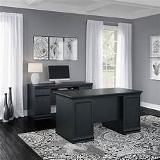 black home office furniture collections antique black 2 piece office desk set birmingham