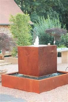 Wasserspiel Im Modernen Edelrost Design Zierbrunnen Made
