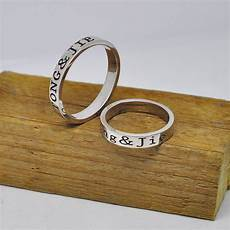 aliexpress com buy wholesale sterling silver personalized couple ring engraved inside outside