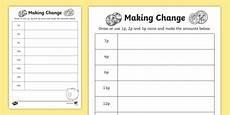 money worksheets change from 50p 2103 change 1p 2p and 5p worksheet activity sheet ni ks1