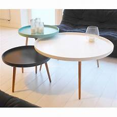 Table Basse Scandinave Kompass 90 By Drawer