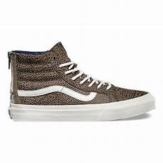 cheetah suede sk8 hi slim zip shop womens shoes at vans