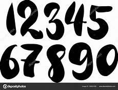 lettering zahlen brush lettering numbers modern calligraphy handwritten
