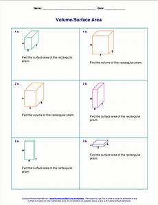 free worksheets for the volume and surface area of cubes rectangular prisms