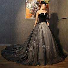vintage sweetheart black gothic wedding dresses cash on delivery vestidos de noiva applique