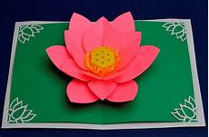 s day lotus flower pop up card creative pop up cards