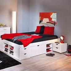lit avec rangement 140 190 blanc achat vente lit avec