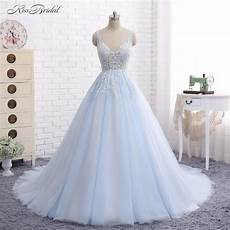 Baby Blue Wedding Gown