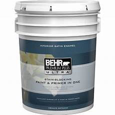 behr premium plus ultra 5 gal medium base satin enamel interior paint 775405 the home depot