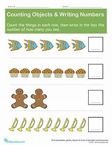 Counting Objects Writing Numbers Worksheet Education