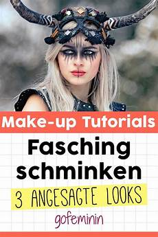 fasching schminken 3 angesagte make up looks zum