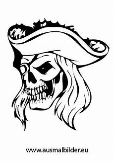 ausmalbild piraten totenkopf mit hut kostenlos ausdrucken