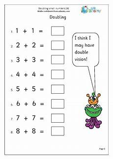 double small numbers 4 multiply and divide maths worksheets for year 1 age 5 6