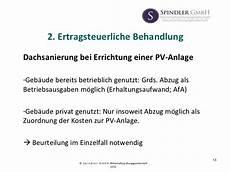 steuerliche behandlung photovoltaikanlagen