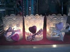 sti per candele in silicone portacandele con vasetti decorati pizzo cuori di polvere