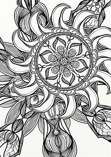 mandala spiral relaxing coloring page etsy