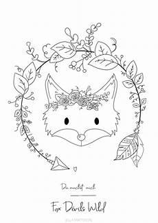 foxdevilswild ausmalbild fuchs ausmalbilder niedliche