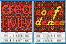 Uhr Malvorlagen Word Words Ein Ausmalkalender Mit Mustern Guten Worten