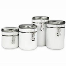 oggi kitchen canisters buy oggi airtight stainless steel canisters with acrylic