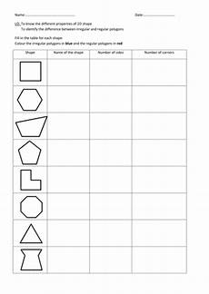 shapes worksheets year 6 1327 recap 2d shapes teaching resources
