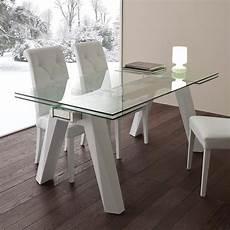 tavolo vetro tavolo allungabile in vetro acciaio inox e metallo bianco