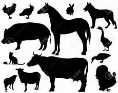 stock vector animal silhouette animal outline animals