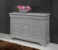 meuble bois gris petit buffet 3 portes 6 tiroirs en merisier massif de