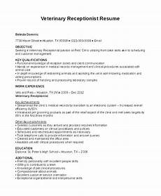 sles of receptionist resumes 2019 resume templates