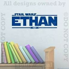 star wars dual lightsaber personalized custom name quote vinyl wall decal jedi ebay