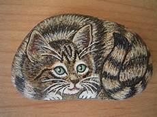Tigerkatze Steine Bemalen Steine Und Steinmalerei
