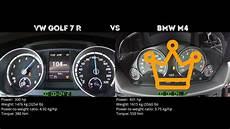 bmw m4 0 100 vw golf 7 r vs bmw m4 0 100 km h