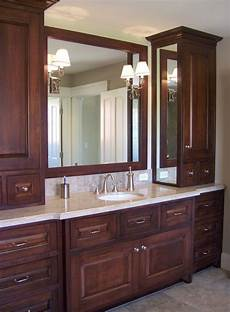 Bathroom Storage Cabinets Masters by Master Bath One Sink With Two Side Storage Cabinets
