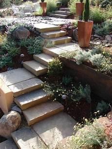 Treppen Im Garten Gestaltung Ideen Stein Landschaftsbau