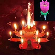 romantik kerzen und new beautiful musical lotus flower rotating happy birthday