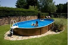 Schwimmbad Kaufen Garten - above ground swimming pool kit 24x12ft oval 3244147976539