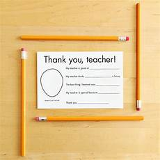 thank you card for teachers template thank you card for gift for card