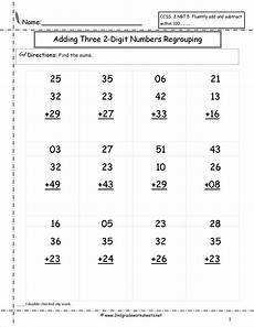2nd grade math worksheet adding two digit numbers two digit addition worksheets