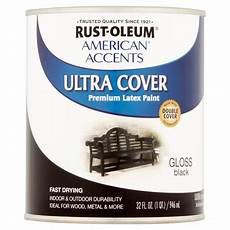 rust oleium american accents ultra cover gloss black premium latex paint 32 fl oz walmart com