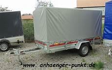 Pkw Anhänger Gebraucht Gebremst - pkw anh 228 nger 1300 kg 3m x 1 50 plane spitzdach gebremst 1