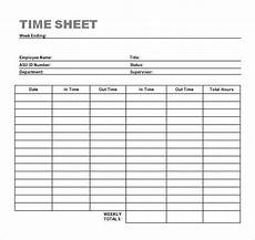 free 23 sle time sheets in exle format