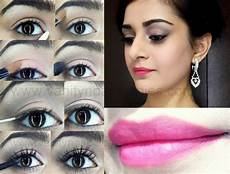 tutorial how to christian bridal makeup look romantic pink