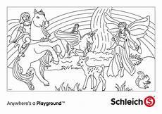 Ausmalbild Einhorn Elfe Schleich Elfen Ausmalbilder Malvor