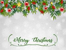 free vector merry christmas card template with mistletoes