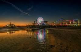 Wallpaper Lights United States Beach Twilight Sea