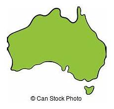 cartoon map of australia continent with different animals colorful cartoon illustration for