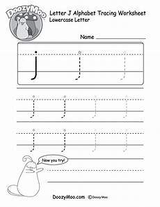 letter tracing worksheets j 23894 lowercase letter quot j quot tracing worksheet doozy moo