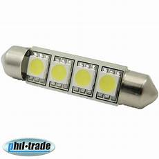 smd led soffitte le c10w 42mm 24v volt lkw xenon weiss